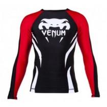 Venum Electron 2.0 Rashguard Long Sleeve - Black and Red