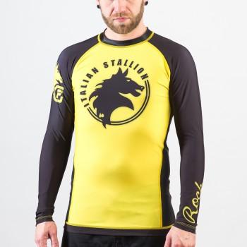 Rocky Italian Stallion BJJ Rashguard- Yellow and Black