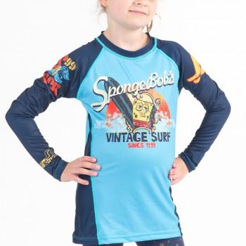 Sponge Bob Vintage Surf Kids Rashguard - Long Sleeve