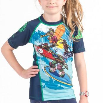 TMNT Sewer Surfin' Kids Rashguard - Short Sleeve
