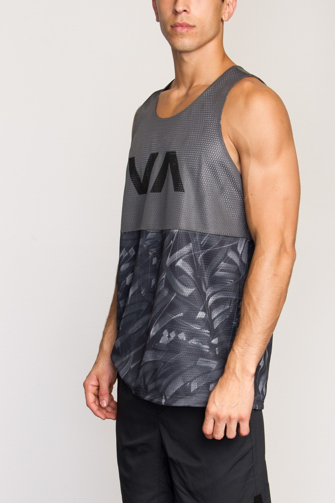 6f1386e2b8aa6 RVCA Defer Reversible VA Sport Dealer II Tank- Smoke- Free Shipping ...