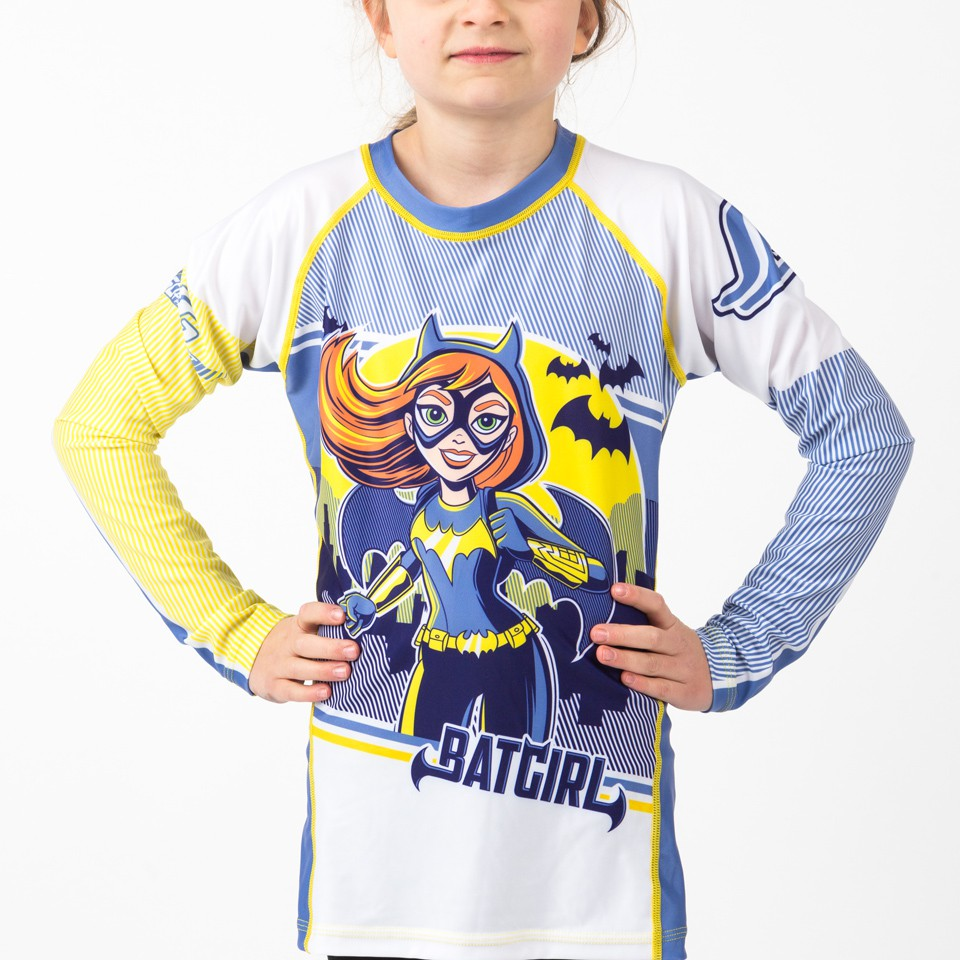 Batgirl Kids Rash Guard- Long Sleeve