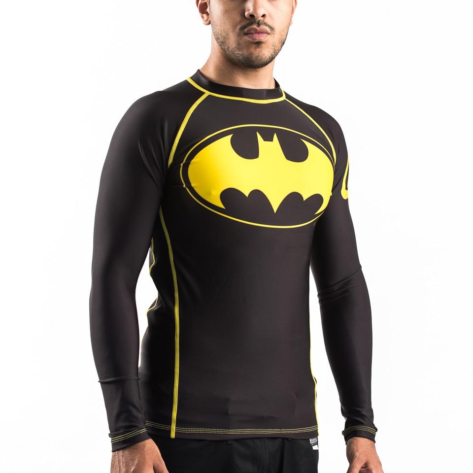 Batman Inverted Logo Rashguard- Black