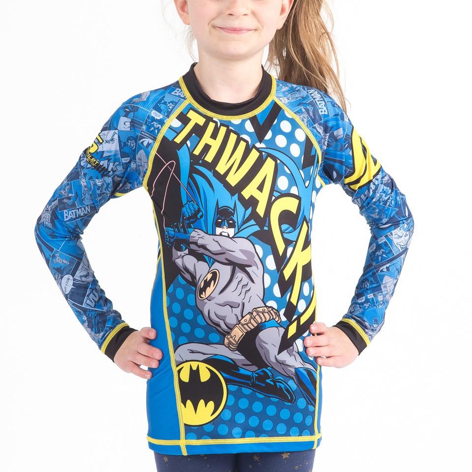 Batman Thwack Kids Rashguard- Long Sleeve