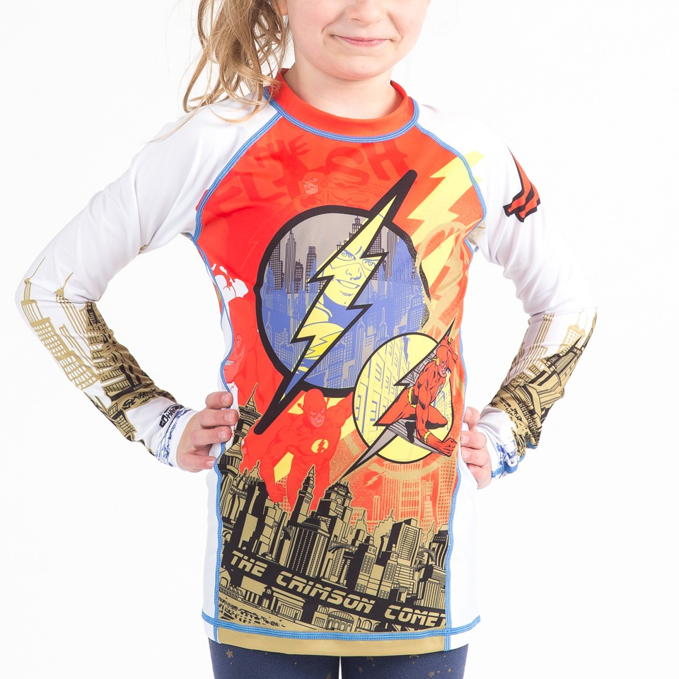 The Flash Crimson Comet Kids Rashguard - Long Sleeve