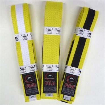Fuji Kids BJJ Belt- Yellow - Belts