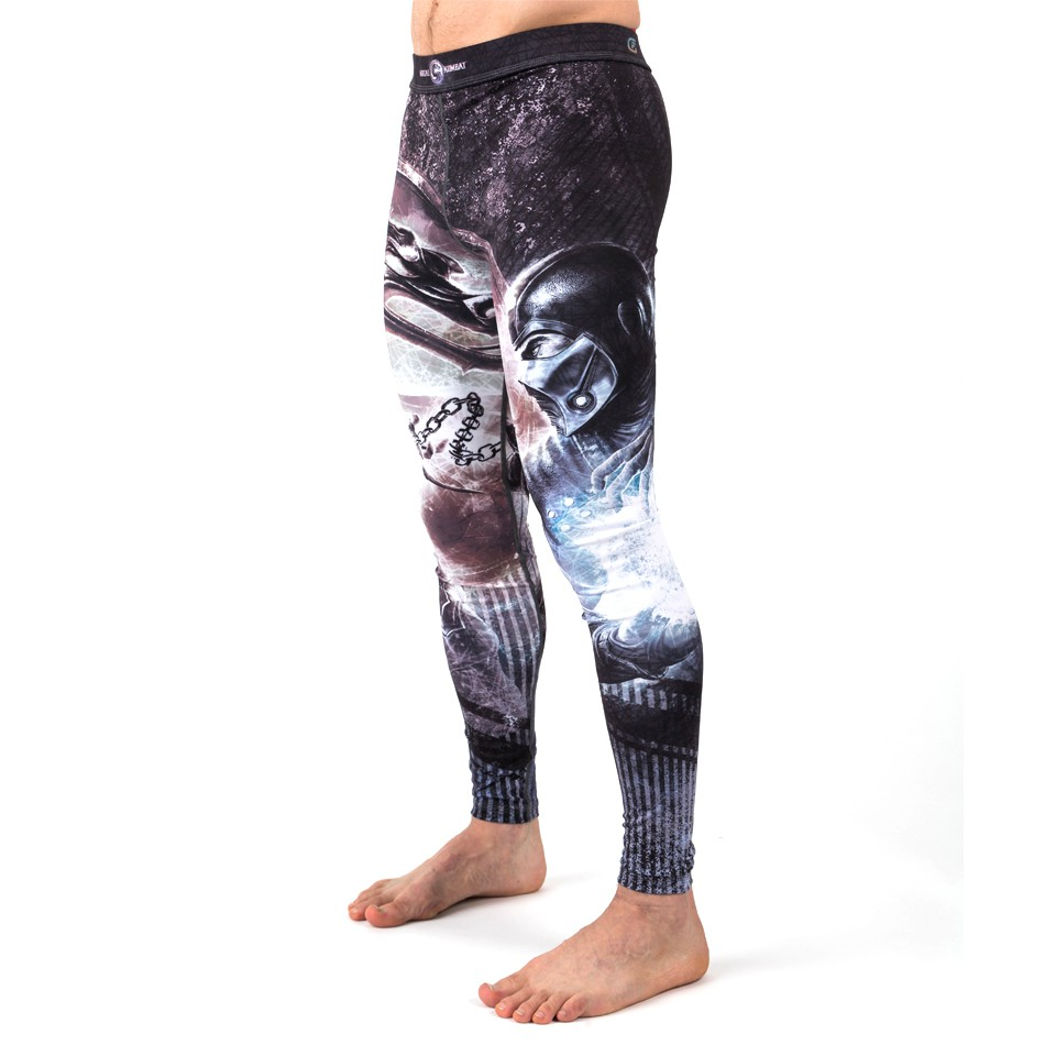 Fusion Fight Gear Mortal Kombat Sub Zero vs. Scorpion Spats Compression Pants