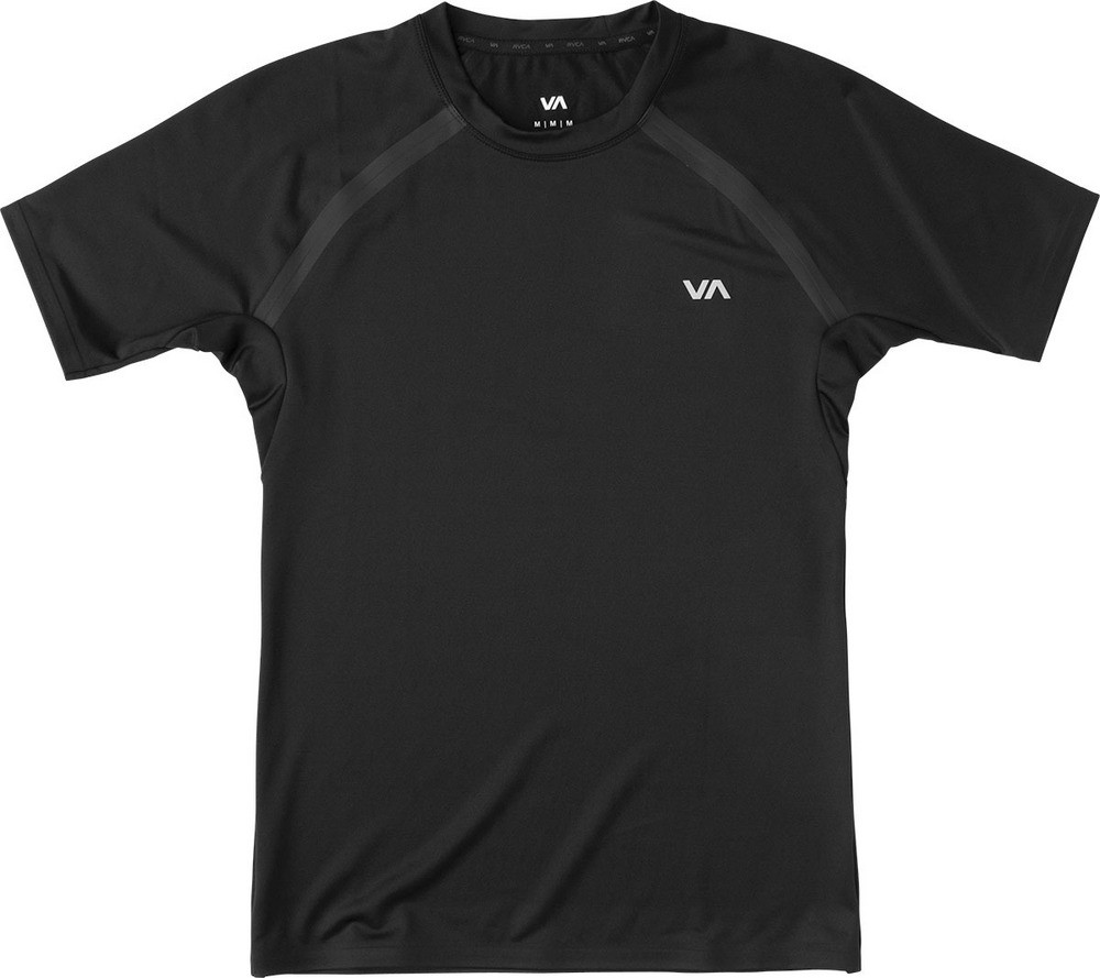 RVCA Compression Top Short Sleeve- Black