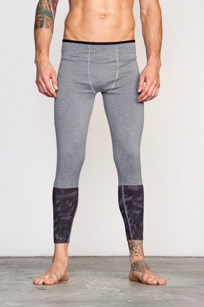 e6bc479b85196 RVCA VA Sport Defer Compression 7 8 Pants- Grey- Free Shipping USA and  Canada