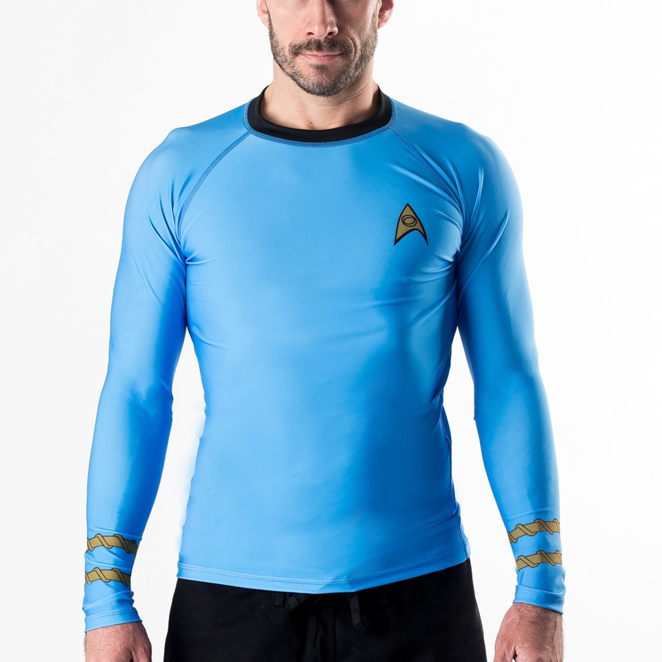 Star Trek Classic Uniform rashguard- Blue