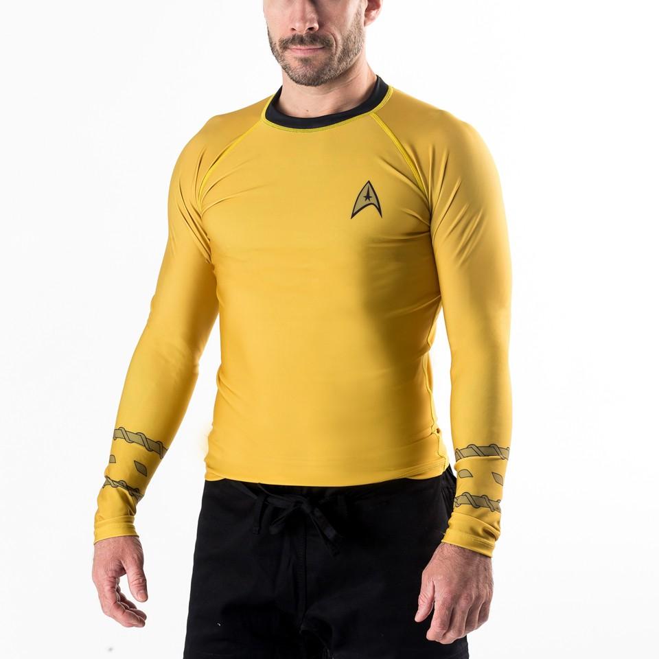 Star Trek Classic Uniform Rash Guard- Gold