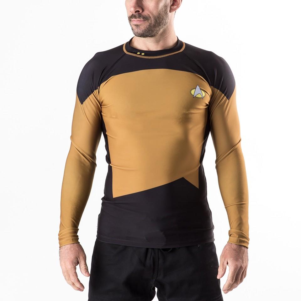 Star Trek The Next Generation Gold/ Operations Rash Guard