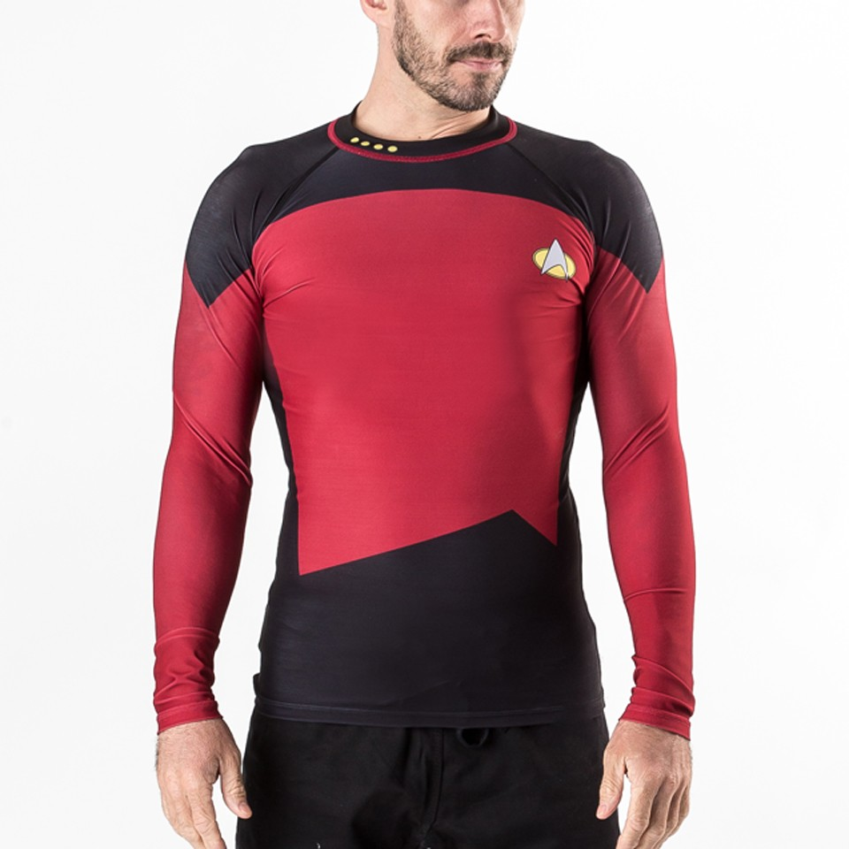 Star Trek The Next Generation Red/ Command Rash Guard