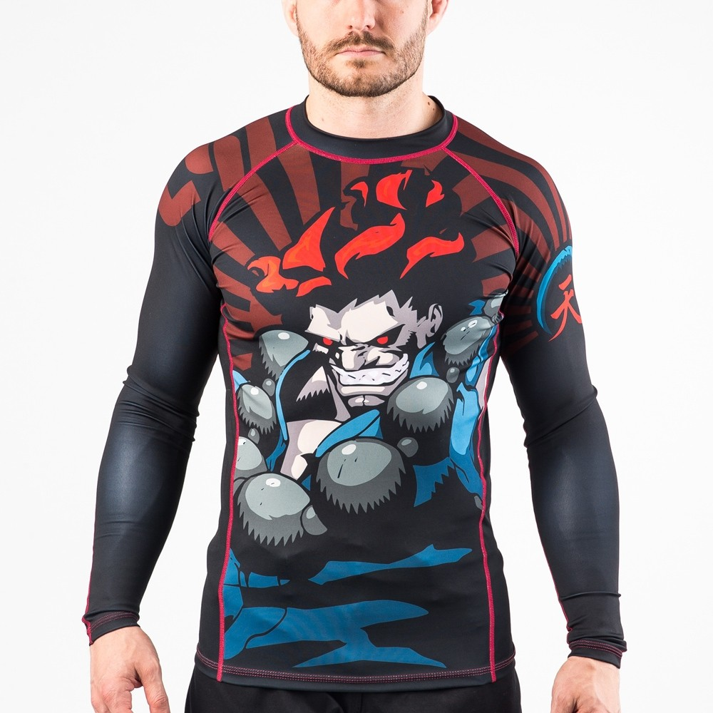 Fusion Fight Gear Street Fighter Akuma Compression Rash Guard