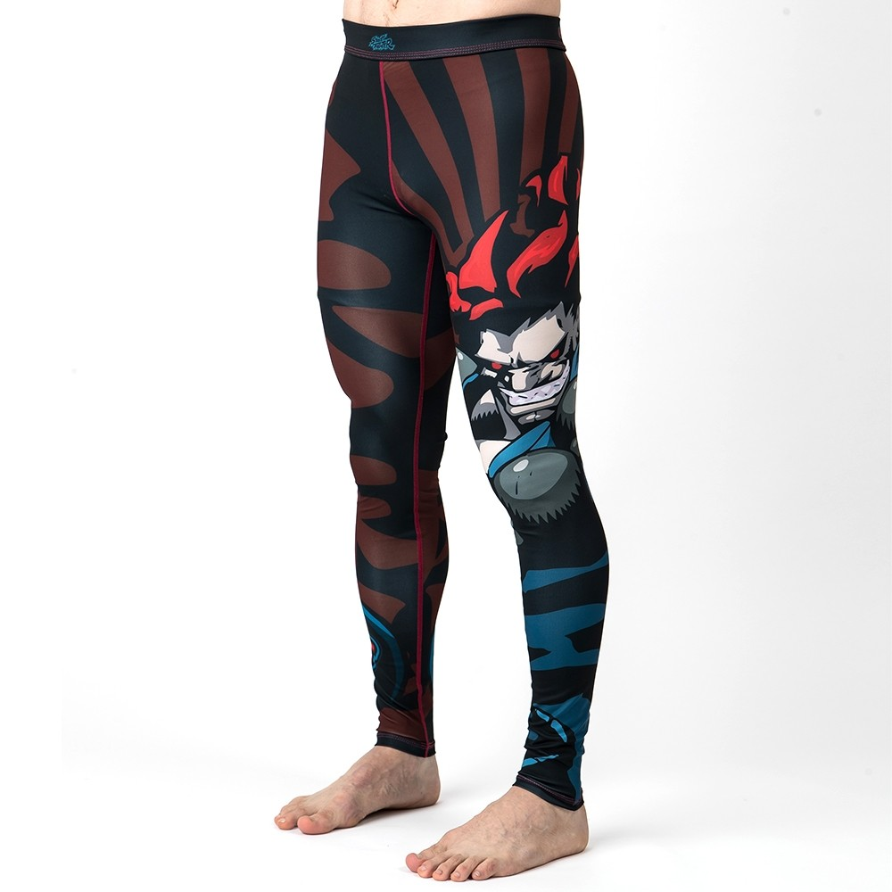 Fusion Fight Gear Street Fighter Akuma Compression Pants Spats