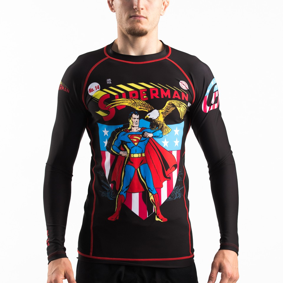 Fusion Fight Gear Superman Americana Compression Rash Guard