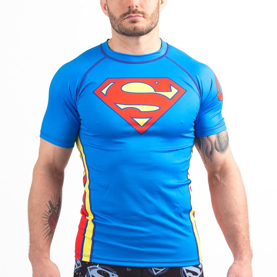 Superman Classic Logo Rashguard Shortsleeve