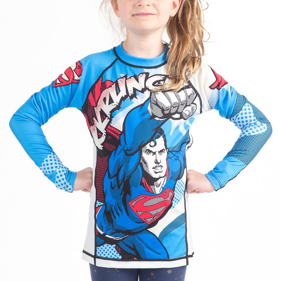 Superman Krunch Kids Rashguard- Long Sleeve