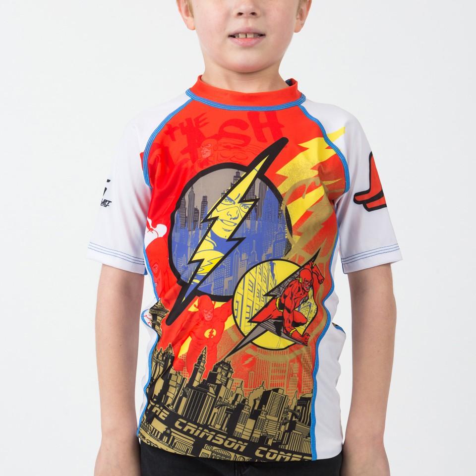 The Flash Crimson Comet Kids Rashguard - Short Sleeve