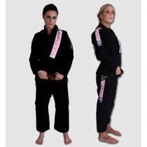 Vulkan Women's Pro Light Jiu-Jitsu Gi- Black With Pink Patches
