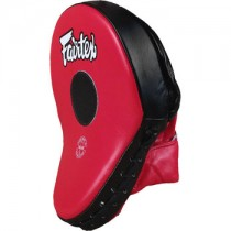 Fairtex Countoured focus mitts- black and red (pair)