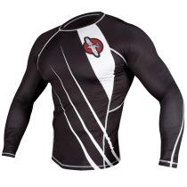 Hayabusa Recast Rashguard- Black and White