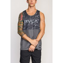 ba1a165758f59 RVCA Defer Reversible VA Sport Dealer II Tank- Smoke