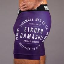 "Scramble 'Real"" Vale Tudo Shorts – Purple"