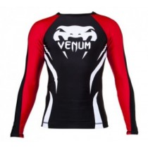 Venum Electron 2.0 Rashguard Long Sleeve - Black and Red