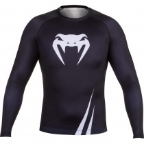 Venum Challenger Rashguard- Longsleeve Black and White