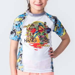 TMNT Hang Three Kids Rashguard - Short Sleeve