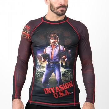 Fusion Fight Gear Chuck Norris Invasion USA Rash Guard Compression Shirt