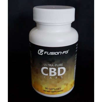 Fusion Fight Gear Ultra-Pure CBD Caps- 30 count (25mg) Sports Supplement
