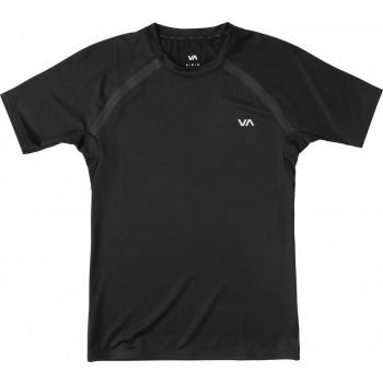 RVCA Compression Top Short Sleeve- Black