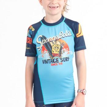 Sponge Bob Vintage Surf Kids Rashguard - Short Sleeve