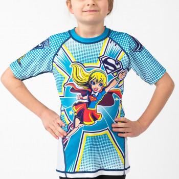 Supergirl Kids Rash Guard Short Sleeve