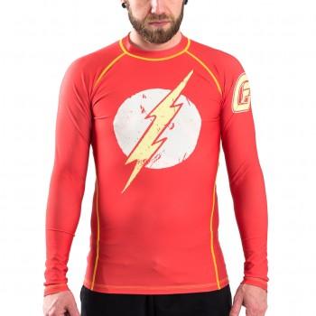 Fusion Fight Gear The Flash Distressed Logo Compression Shirt Rash Guard