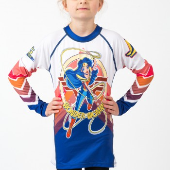 Wonder Woman Kids Rash Guard- Long Sleeve